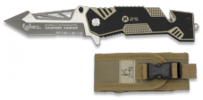 K25 Chequered Tan Folding Knife